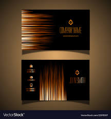 Visiting Card Design Black And Gold Elegant Gold And Black Business Card Design