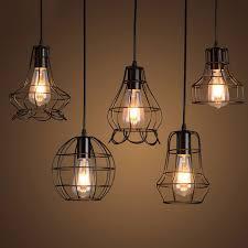 klemon wire cage pendant lights