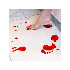 bath mat blood