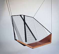 The Solo Cello, A Modern Steel and Leather Hanging Chair by Felix Guyon. -  if it's hip, it's here