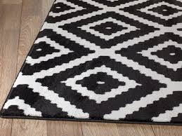elegant zipcode design cheney black indoor area rug reviews wayfair white and black area rug remodel