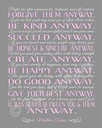 Mother Teresa Quotes Love Them Anyway Best Mother Teresa Quotes Love Them Anyway Entrancing Mother Teresa Quote