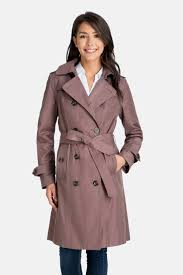 Ryan Double Breasted Trench Coat With Removable Hood