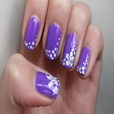 Elegant Purple and White Nail Designs