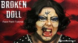 eva s broken doll makeup tutorial video tutorial
