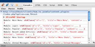 debug your joomla code with firephp