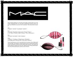 mac makeup artist resume