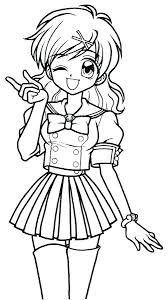 Anime Girls Coloring Pages Anime Coloring Pages For Kids Anime