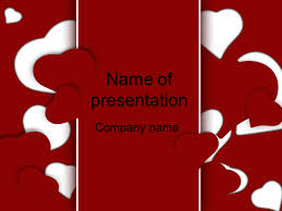Heart Powerpoint Templates Red Hearts Powerpoint Template For Impressive Presentation