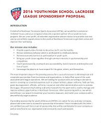 Proposal For Sponsorship Template Custom Football Sponsorship Proposal Template Letter For Sports Team Event