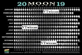 Wiccan Moon Chart 2019 Moon Calendar Chart Reference Card Astrology Wiccan