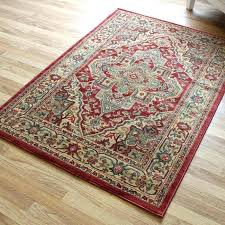 red traditional rug wool