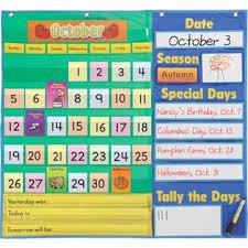 Black Classroom Calendar Pocket Chart Classroom Calendars