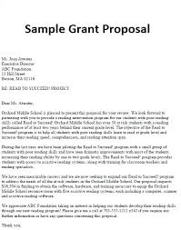 Sample Grant Proposal Letter Andeshouse Co