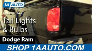 2007 Dodge Ram Brake Lights And Turn Signals Not Working How To Replace Tail Lights Bulbs 07 08 Dodge Ram