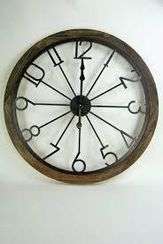 wall clock extra large oak coloured