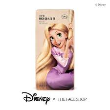 the face x disney rapunzel hair mask pack 40ml korean cosmetic skincare msia singapore