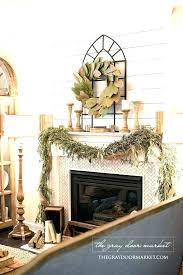 brick fireplace decorating ideas red