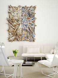edgy furniture. edgy and fancy living room decor idea with stunning white furniture plus super artsy wall decoration
