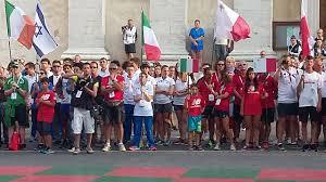 Marina Pettinella partecipa alla Cerimonia di apertura degli Europei in  qualità di invitata