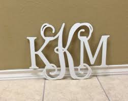 Monogram Wall Art, Wall Hanging, Letters for Nursery, Wooden Monogram  Initials, Dorm