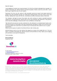 Dementia Uk Thank You Letter For Donation Chris Hayers