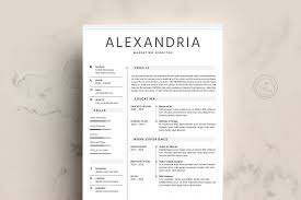 85 Minimalist Resume Design Minimalist Resume Template Word