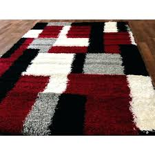 red area rugs amazing black and gray regarding attractive white rug 5x7 checd whit