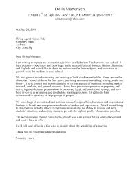 Cover Letter Sample For Professor Academic Cover Letter Sample