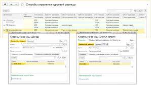 pro курсовые разницы регистре сведений Способы отражения курсовой разницы в 1С
