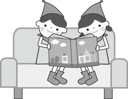 本を読む子どものイラスト無料イラストフリー素材