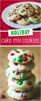 holiday cake mix cookies these are the easiest and prettiest cookies on