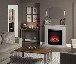 47 complete electric fireplace available grey manila and white micro marble no chimney or recess required simple flat wall fix and thermostatically