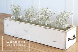 build your own flower box this rustic wood box centerpiece is perfect for displaying flowers and