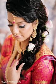 south indian bridal hairstyle in toronto canada south indian fusion wedding by ovyian photography maharani weddings