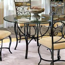 glass kitchen table set round wrought iron with top ikea latest di