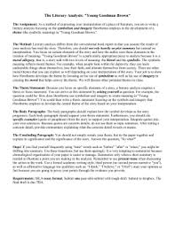 post apocalyptic essay prompt the literary analysis young goodman brown