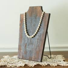 Long Necklace Display Stand Awesome Wood Necklace Display Stand Antique Farmhouse