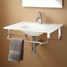 Glass Sink Bathroom Yesler Wall Mount Glass Sink Bathroom
