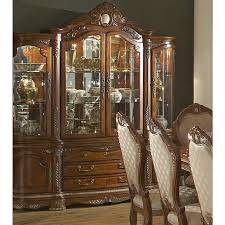 AICO Michael Amini Cortina China Cabinet in Honey Walnut Finish ...