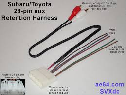snap on wire harness adapter toyota wire center \u2022 snap on wire harness adapter toyota 28 pin aux swc retention harness for subaru scion and toyota rh ae64 com trailer wiring harness adapter trailer wiring harness adapter