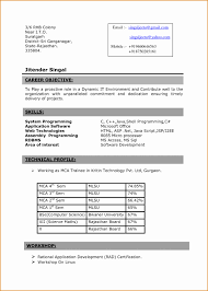 4 Format Of Simple Resume For Fresher Besttemplates Besttemplates