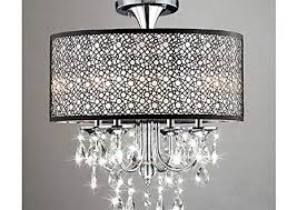 entranching flush mount chandelier at bubble shade crystal and chrome flushmount com