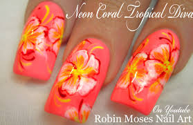 Robin Moses Nail Art: Tropical Nails with Essie Sunshine State of ...