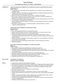 Communications Resume Sample Integrated Marketing Communications Resume Samples Velvet Jobs 10