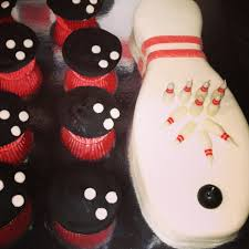 Bowling Pin Cake Decorations Bowling ball cupcakes bowling pin cake Just a picture Logan's 78