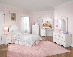 decorating with white furniture. Wonderful White Bedroom Cute Room Ideas With White Furniture Set And Pink Area Rug Also  Curtain For Creative Girls Design Decorating Girl Pale Ikea Rugs Light Carpet Dining