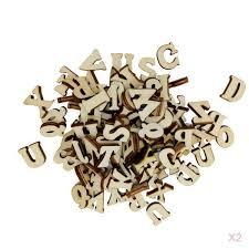 details about 200pcs unfinished wooden shapes letter alphabet embellishments for kids diy