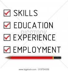 List Of Skills For Employment Skills Education Image Photo Free Trial Bigstock