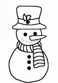 Simple Snowman Coloring Pages For Kids Free | Winter Coloring ...